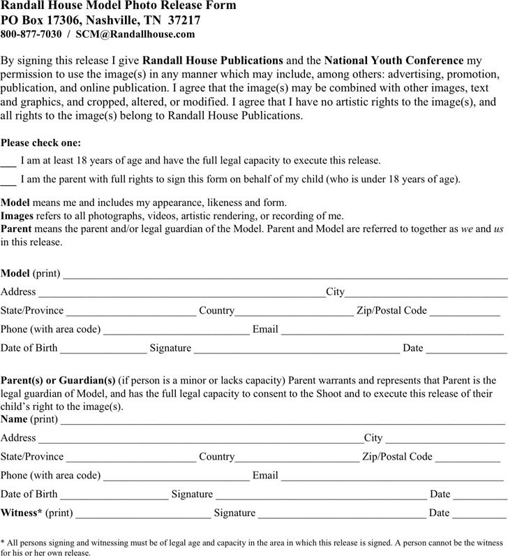 Tennessee Model Release Form 3