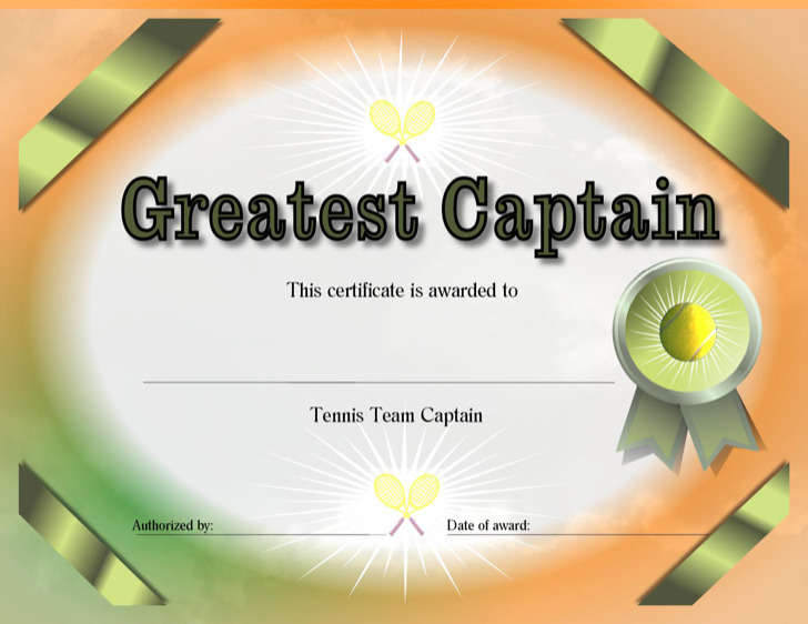 Tennis Certificate Template Free Image Collections Template Design