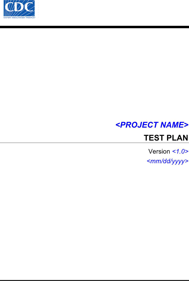 Test Plan Template 2