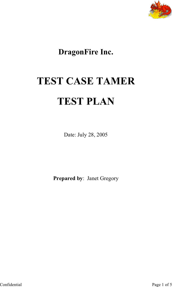 Test Plan Template 3