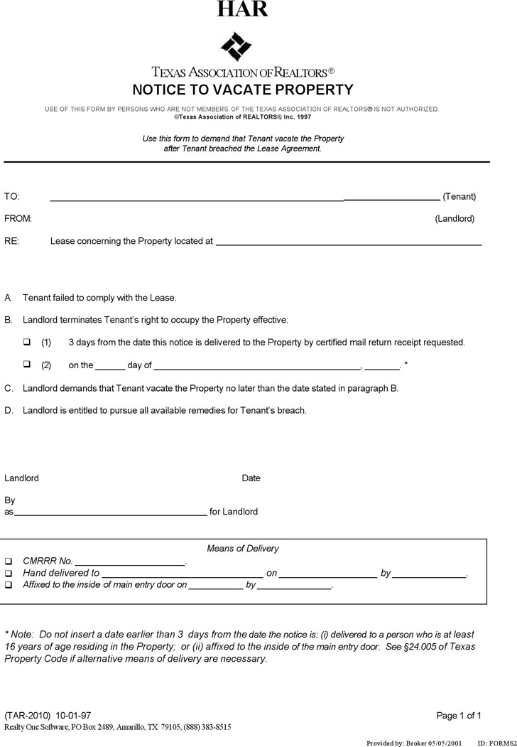 Texas rent and lease template download free premium templates forms samples for jpeg png for Landlord forms free download