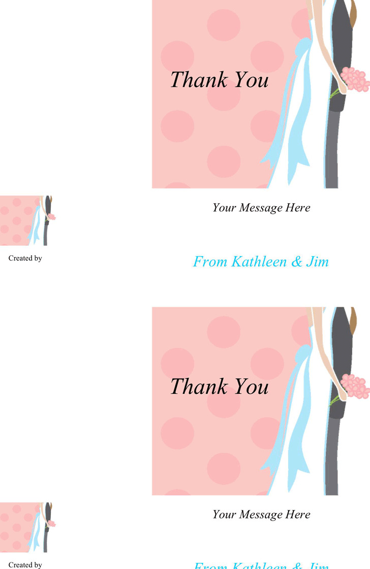Thank You Card Template 3