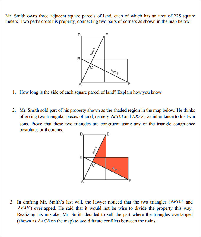 Ks2 Printable Worksheets Excel Sample High School Geometry Worksheet Templates  Download Free  Hypothesis Testing Worksheet Pdf with English 6th Grade Worksheets The Inheritance High School Geometry Worksheet Template Worksheets For Patterns
