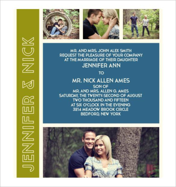 The Photo Romance Modern Wedding Invitation