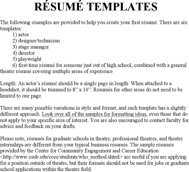 3 Different Resume Formats - Apigram.Com