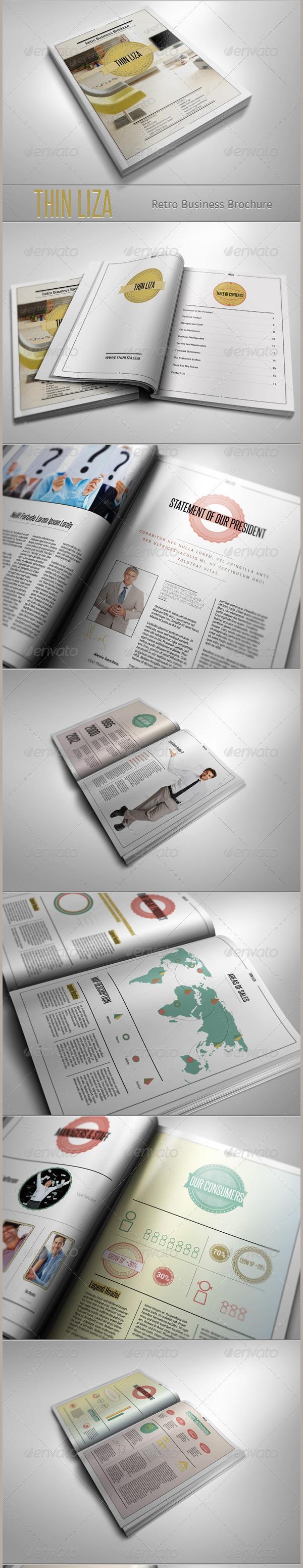 THIN LIZA - Retro Business Brochure