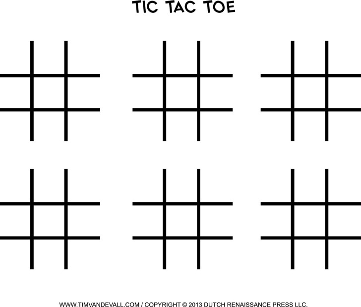 Tic Tac Toe Template  Download Free  Premium Templates Forms