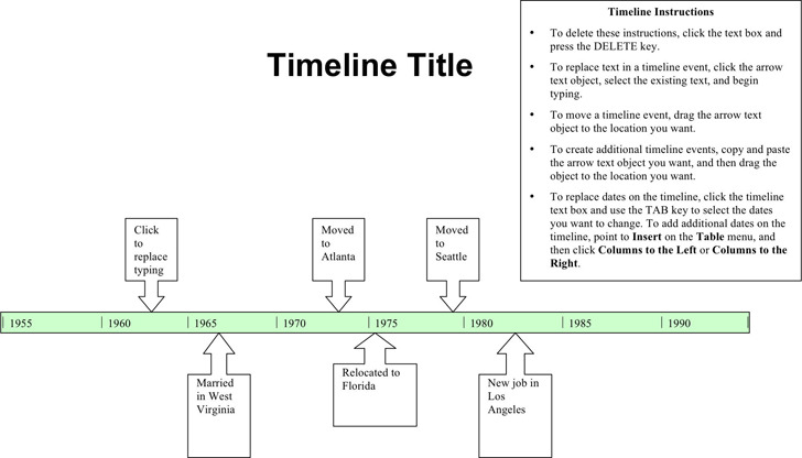 legal chronology template - simple timeline template download free premium