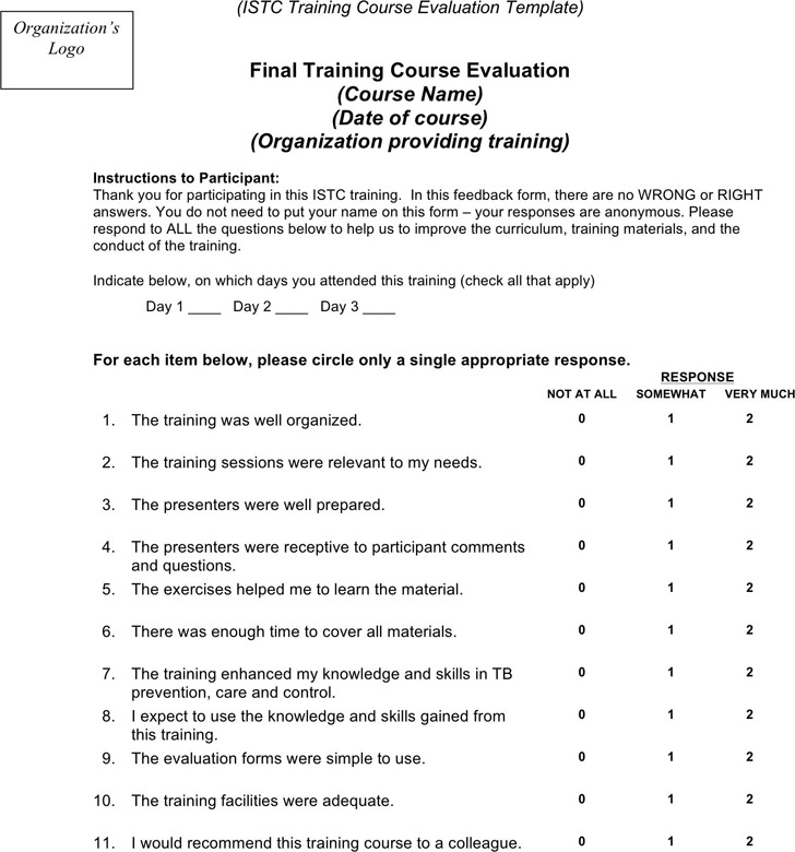 Training Evaluation Form  Download Free  Premium Templates