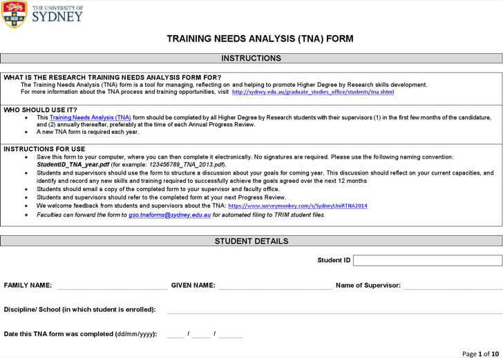 Training Needs Analysis Templates | Download Free & Premium