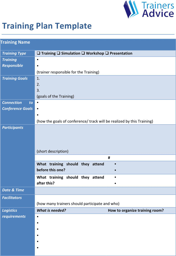 Training Plan Template  Download Free  Premium Templates Forms