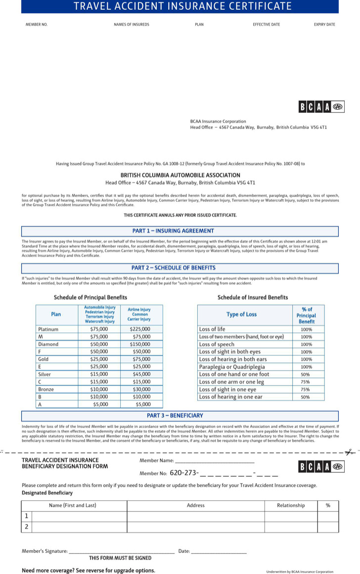 Travel Certificate Template printable rewards charts – Certificate of Insurance Template