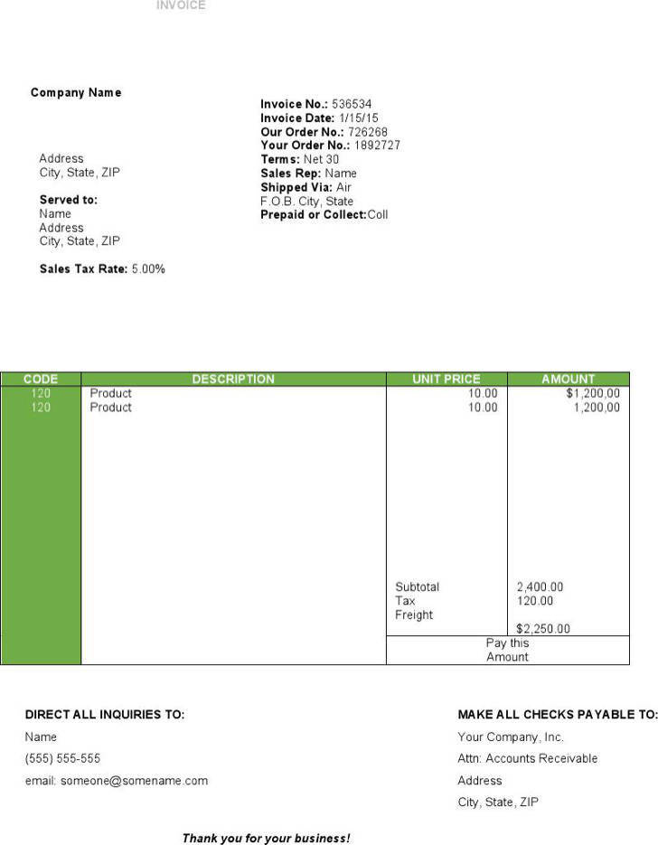 travel invoice templates | download free & premium templates, Invoice examples