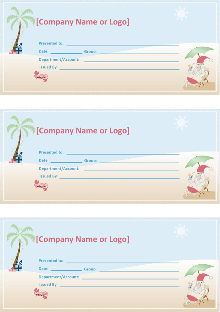 Travel Coupon Template