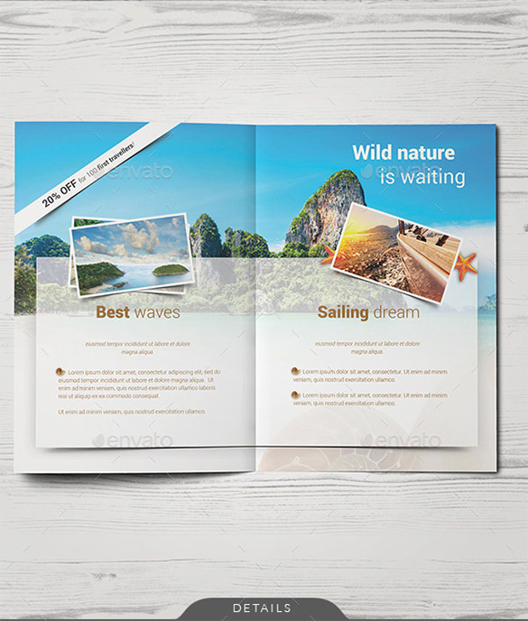 Travel / Holiday Bifold Brochure