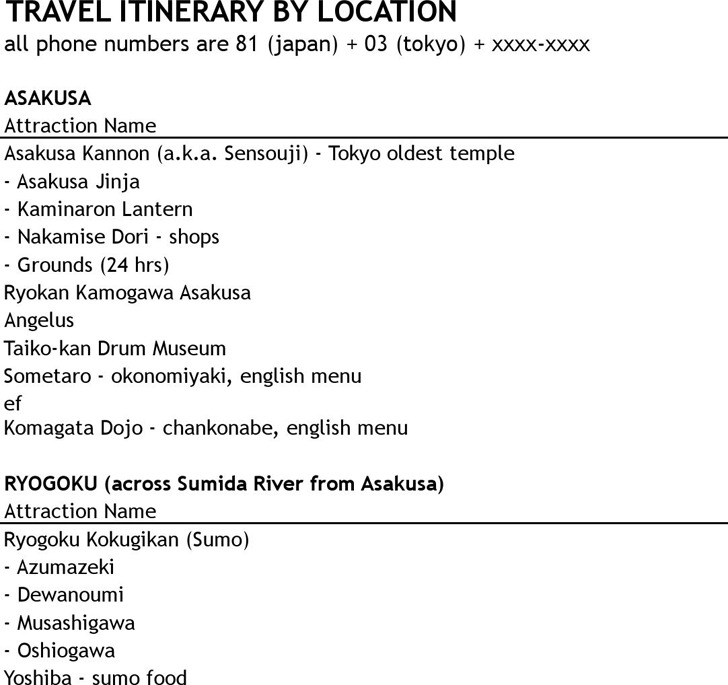 Travel Itinerary Template  Download Free  Premium Templates