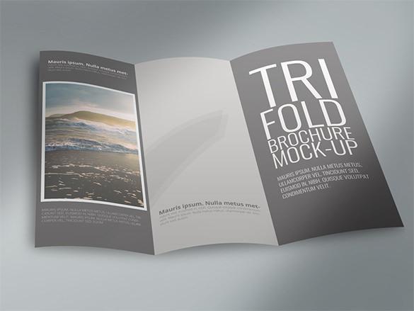 Tri-Fold Brochure Mock Up Template