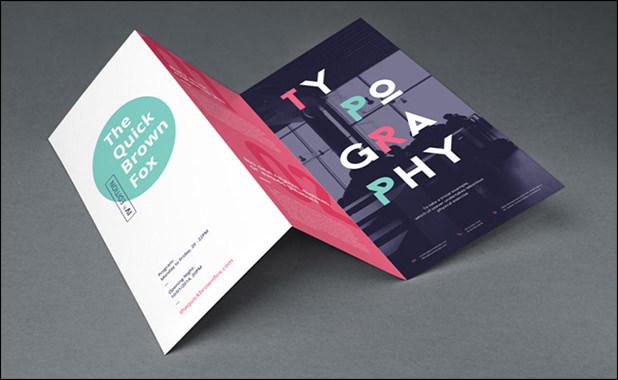 Tri fold brochure Mockup
