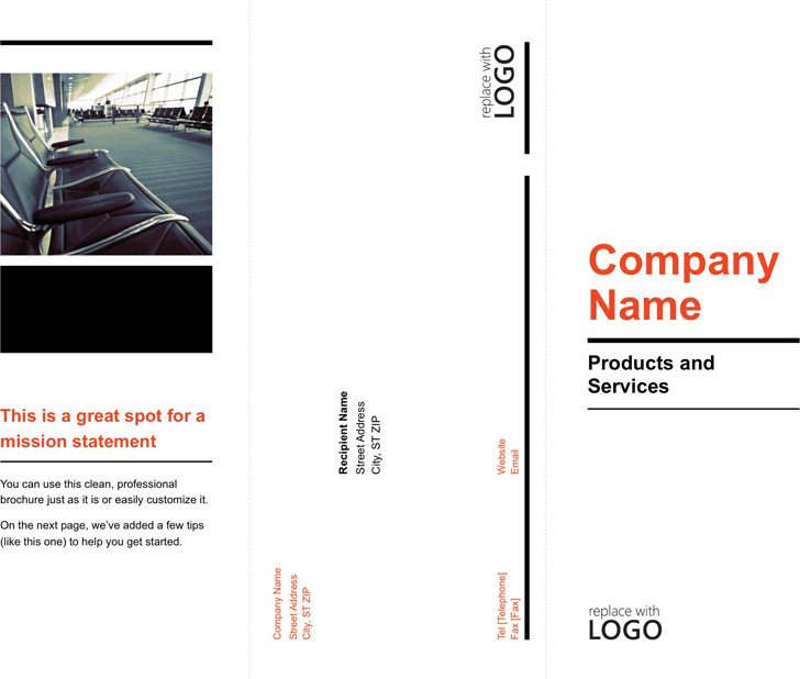 Tri fold brochure template download free premium for Two fold brochure template word