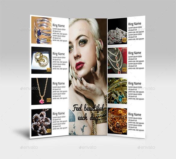 Tri-Fold Jewelry Brochure $ 9