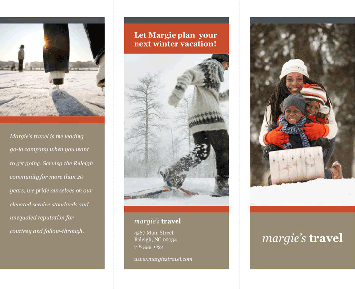 Tri-Fold Travel Brochure Template 2