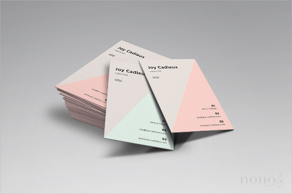 Triangle Business Card Template