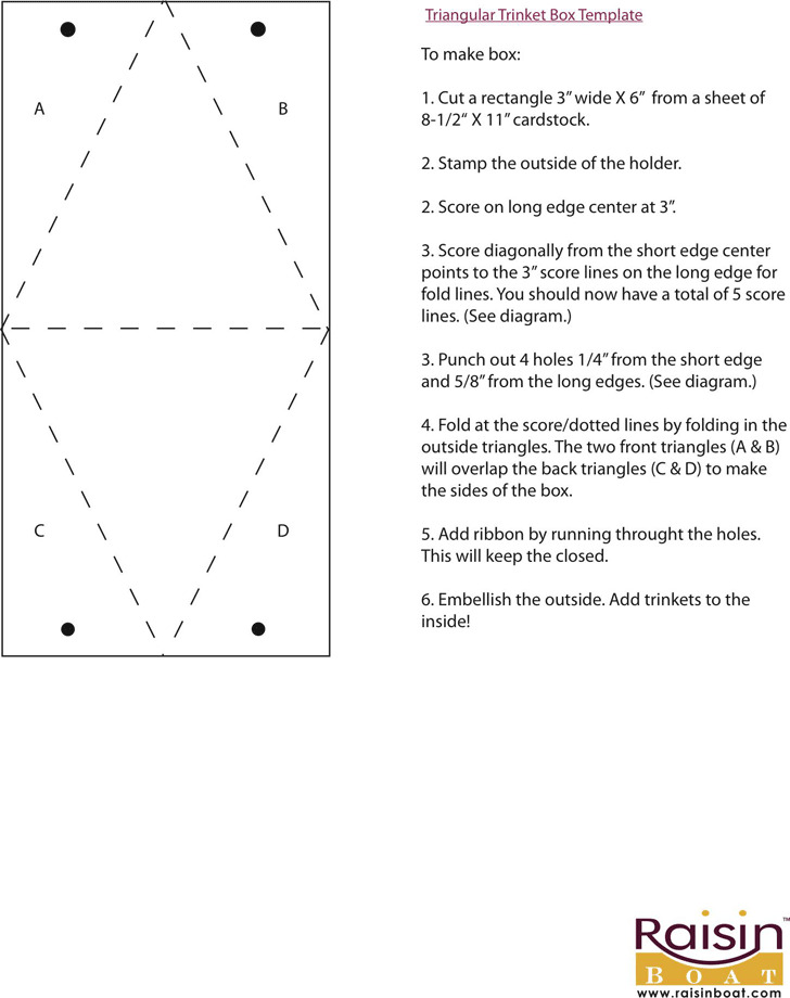 Triangular Trinket Box Template