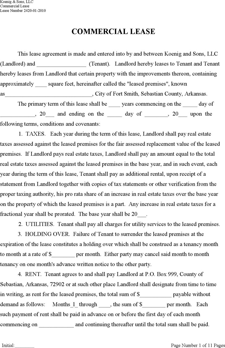 Triple net Lease Template