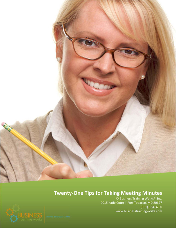 Twenty One Tips For Taking Meeting Minutes