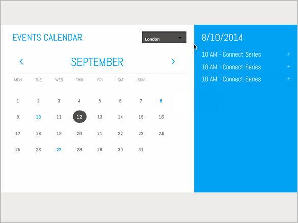 Unfinished Events HTML Calendar