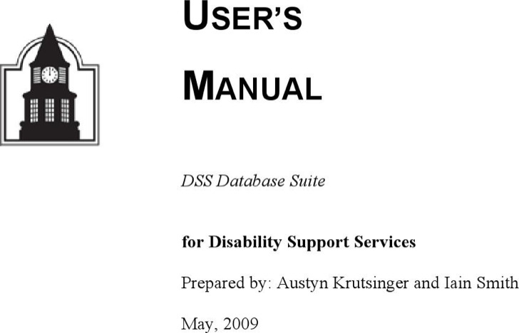 User Manual Template Word