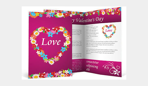 Valentine's Day Love Brochure Template