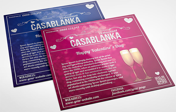 Valentine's Day Square Brochure