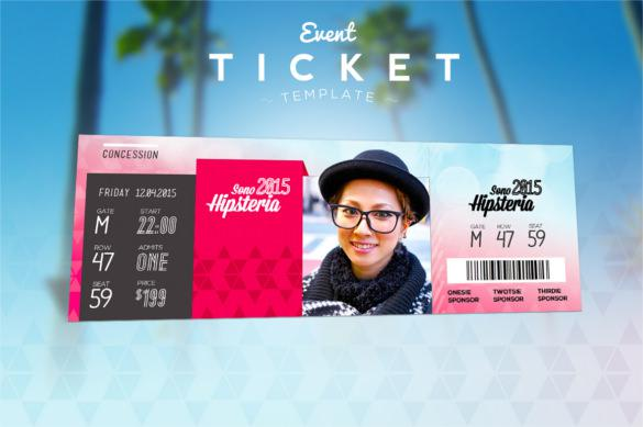 Value Friend Event Ticket Template Premium Download