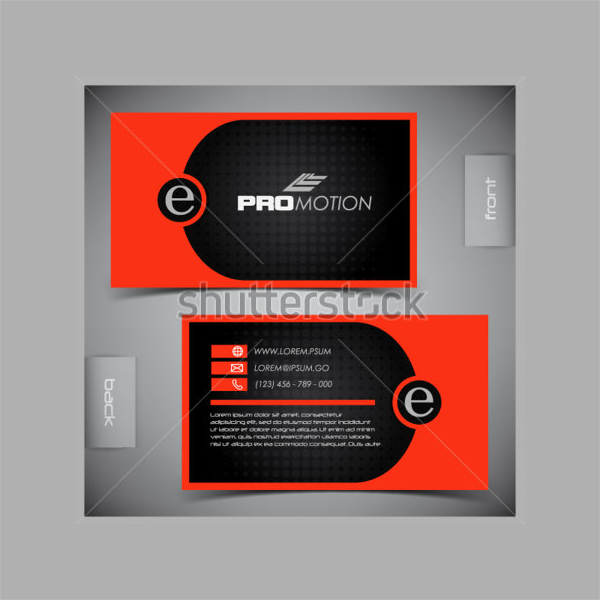 Vector Abstract Creative Business Card Template