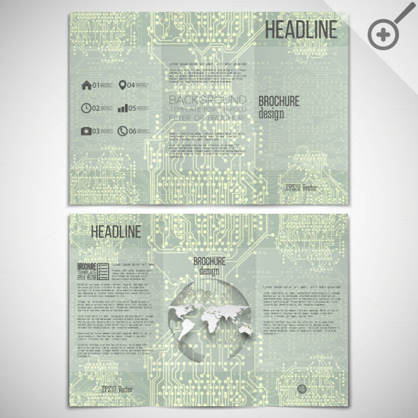 Vector Set of Tri Fold Brochures