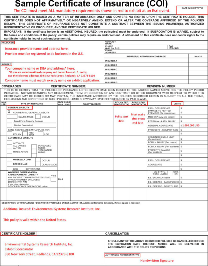 Vehicle Insurance Certificate Pdf Template