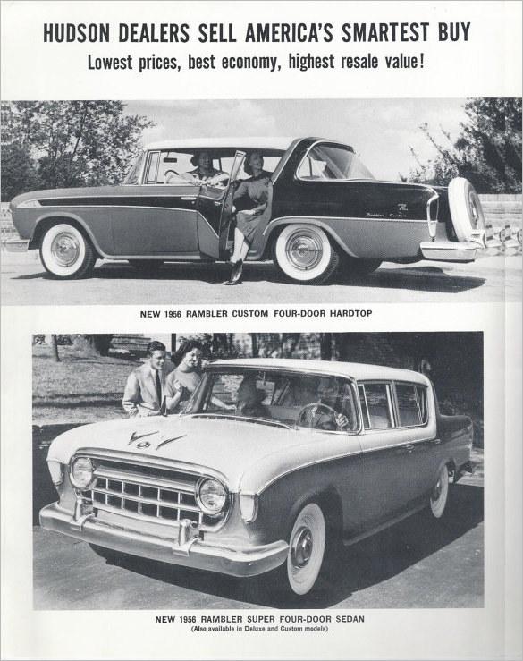 Vintage Car Brochures