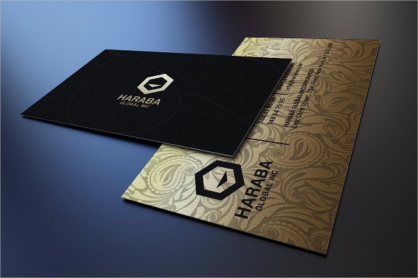 Vintage Gold and Black Business Card Template