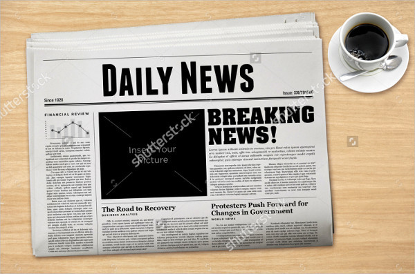 Vintage Newspaper Template Image Collections Template Design Ideas