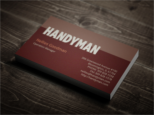 Vintage Small Business Card Template
