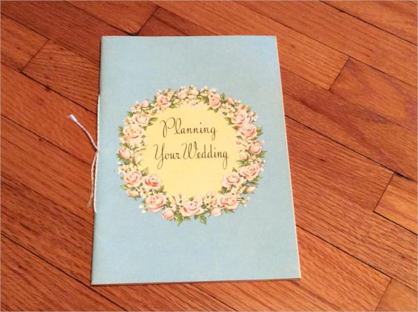 Vintage Wedding Planner Brochure