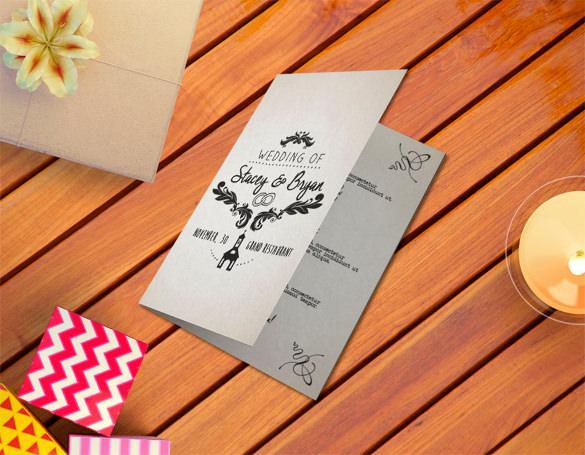 Vintage Wedding Program Template For Download