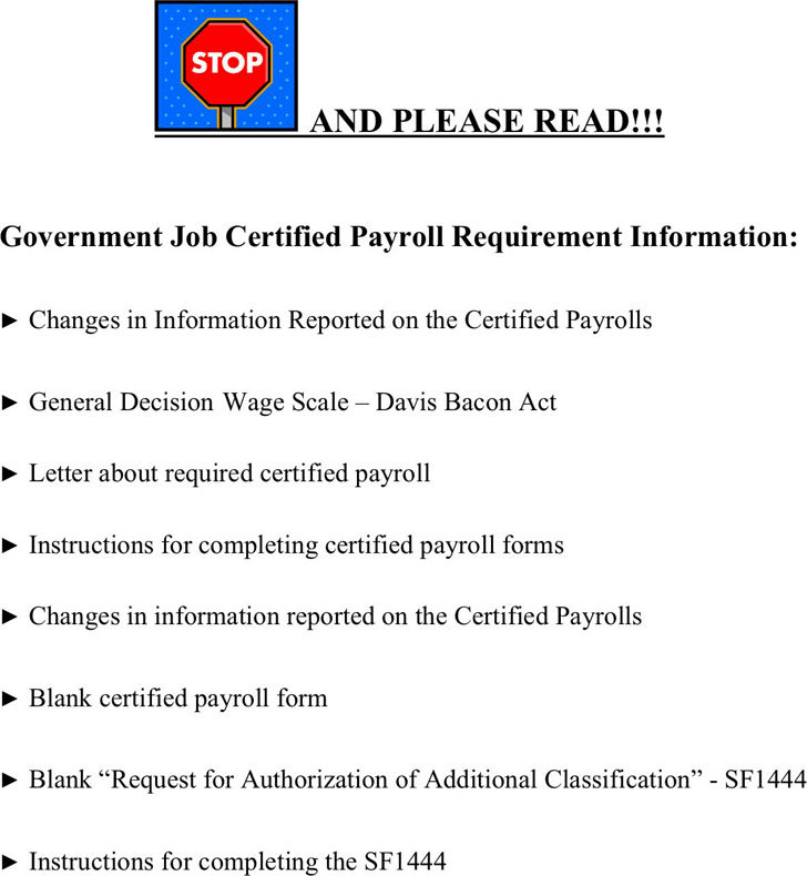 Virginia Government Job Certified Payroll Requirement