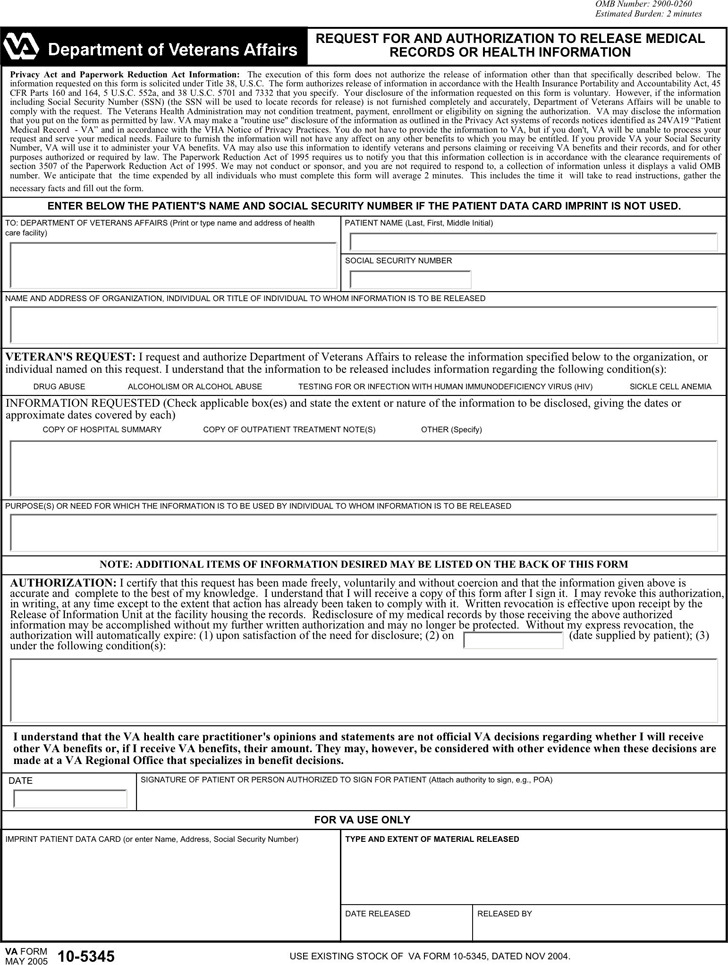 Virginia Medical Records Release Form 2