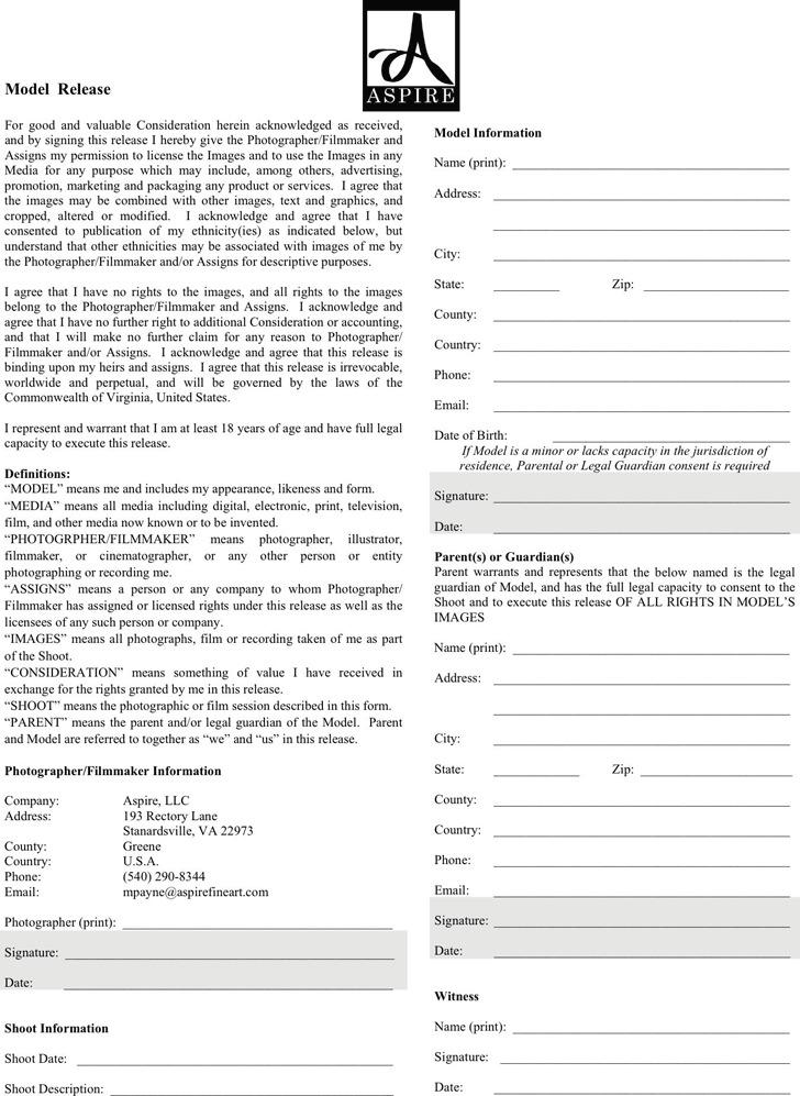 Virginia Model Release Form 4