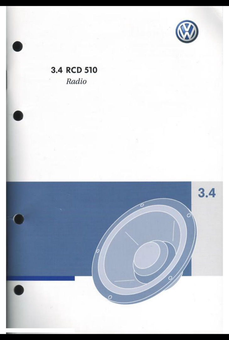 Volkswagen User's Manual Sample