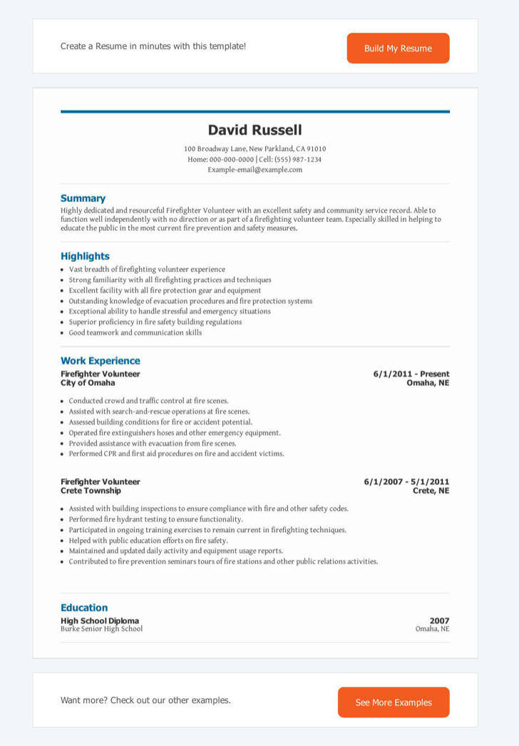 Firefighter Resume Templates | Download Free & Premium Templates
