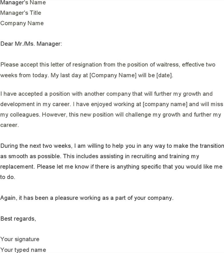 How To Write A Two Weeks Notice Letter » Two Weeks Notice Letter