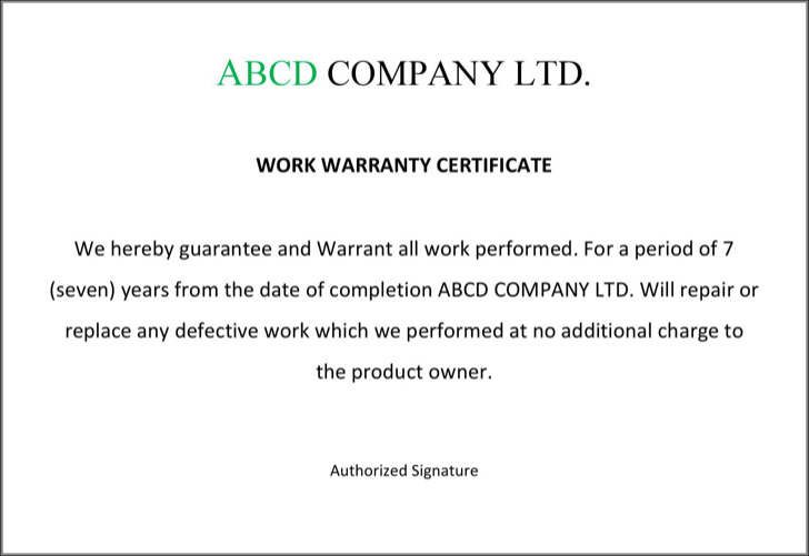 Warranty certificate templates download free premium templates warranty certificate format yadclub Image collections